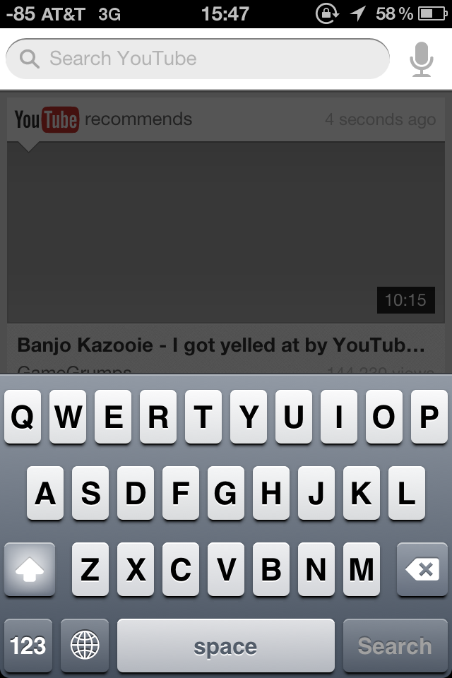 YouTube for iOS - Voice Search