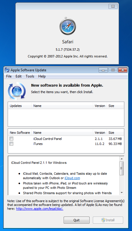 No Safari 5.1.8 for Windows
