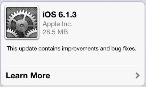 Apple's iOS 6.1.3 update fixes passcode bug