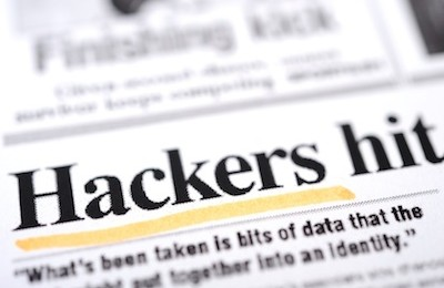 Hackers hit, leading to data breach - newspaper headline
