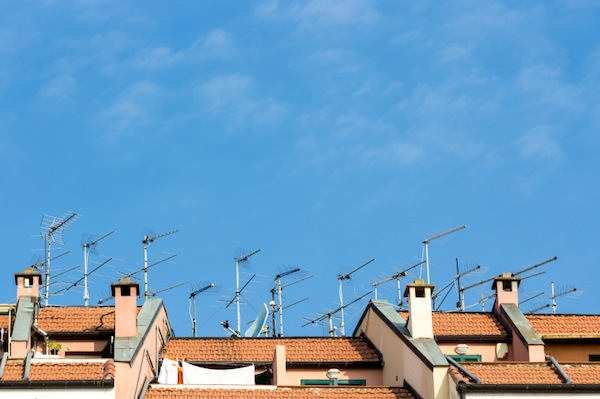 rooftop WiFi antennas