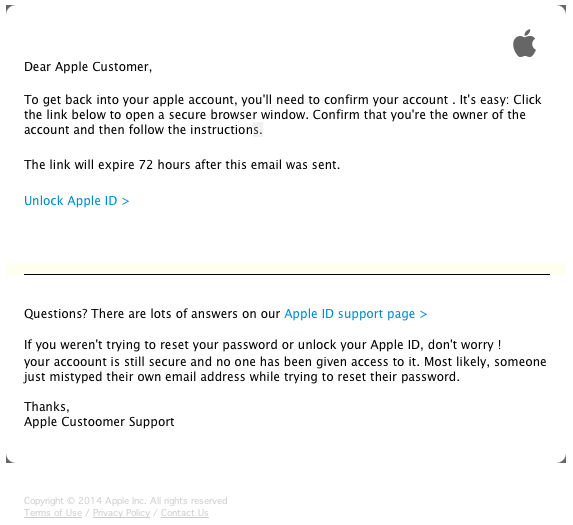 Clever Phishing Scam Targets Your Apple ID and Password | The Mac ...