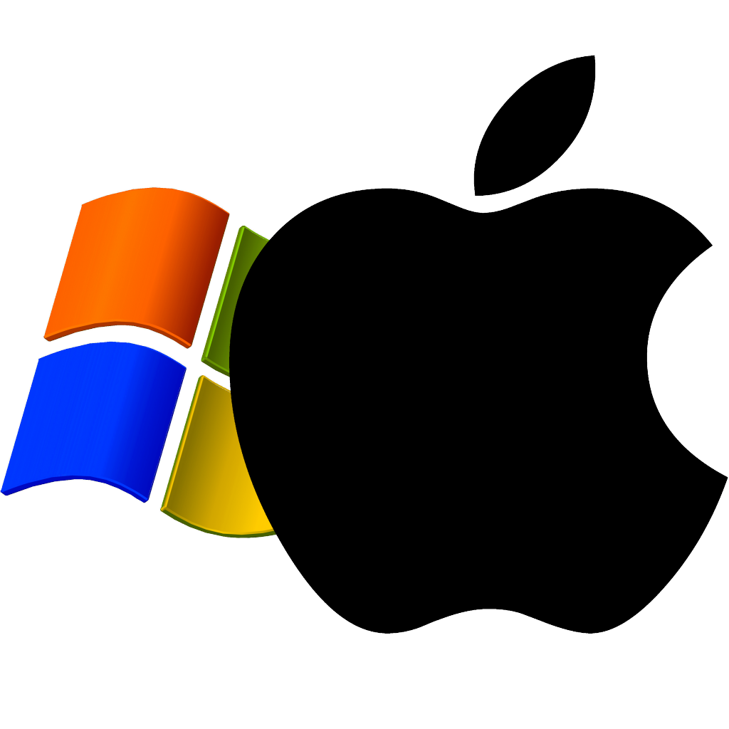 windows xp logo superimposedapple logo | the mac security blog