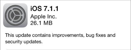 iOS 7.1.1 update notice