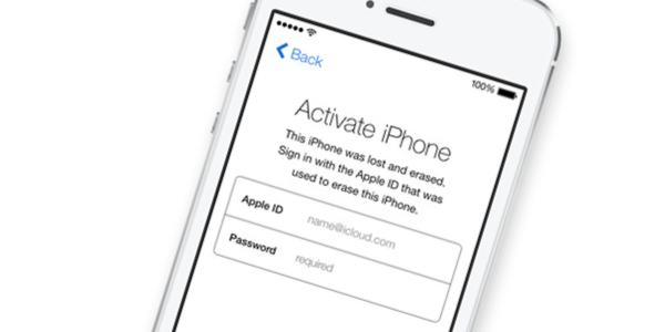 Activation lock on iPhone