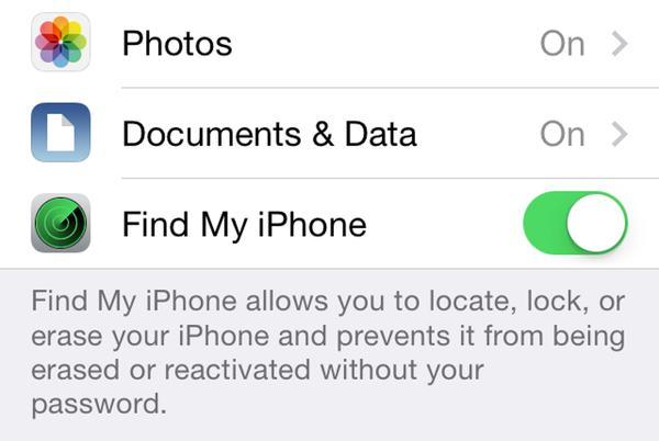 "Enable ""Find my iPhone"" in your iOS settings."