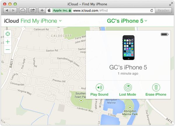 Once logged into iCloud, you can activate Lost Mode.