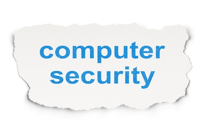 Computer Security on Paper background