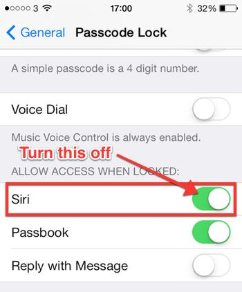 iPhone setting