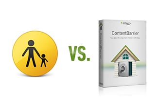 Image of parental controls next to ContentBarrier product box