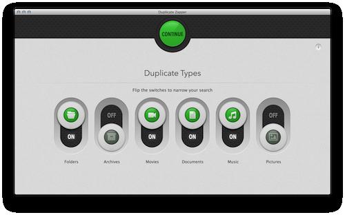 Target duplicates by file type.
