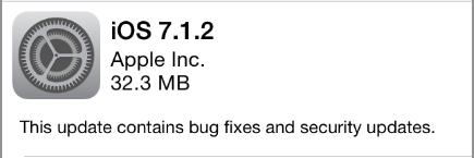 iOS 7.1.2 update notice