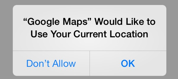iOS app requesting location access