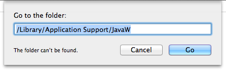 go to JavaW folder