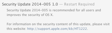 Security Update 2014-005
