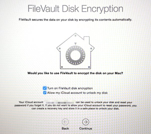FileVault enabled by default