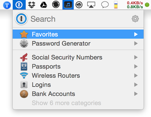 1Password Mac password manager