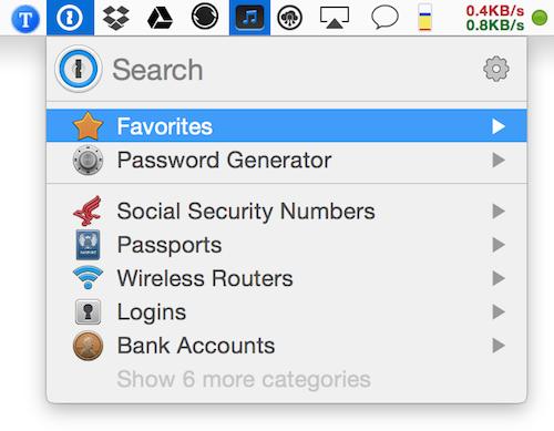 1Password Mac password manager