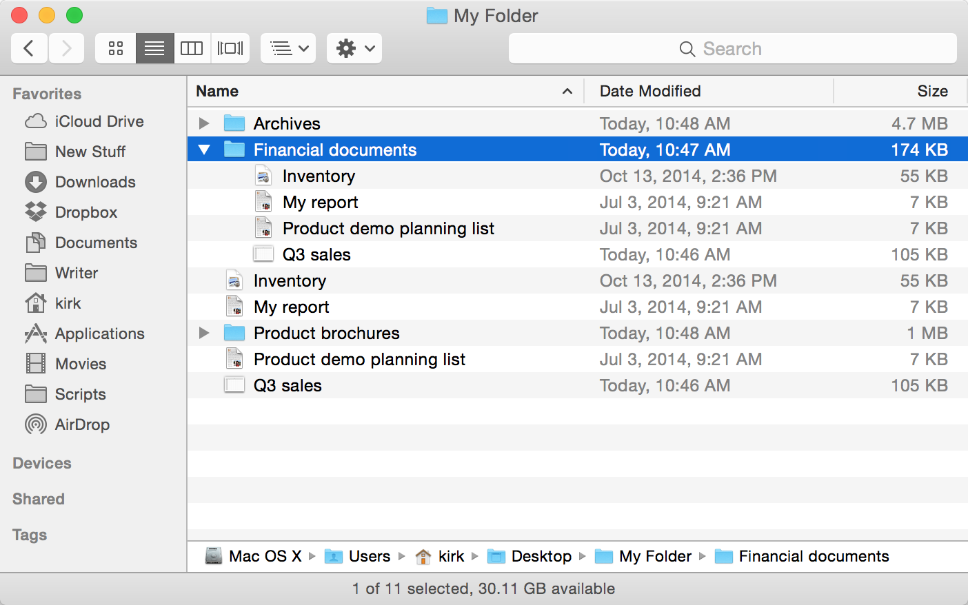How to navigate the macOS Finder from the keyboard | The Mac