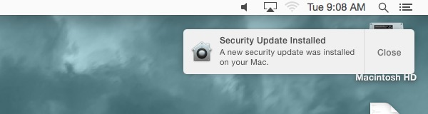 Apple automatic security update