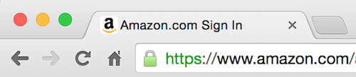 Mozilla Firefox secure padlock icon