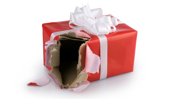 Christmas shopping online gift theft