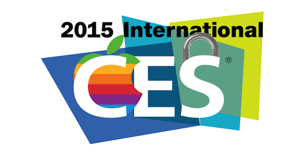CES 2015 with Apple and Security logos