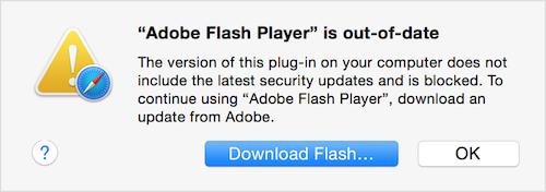 Yosemite Safari download Flash
