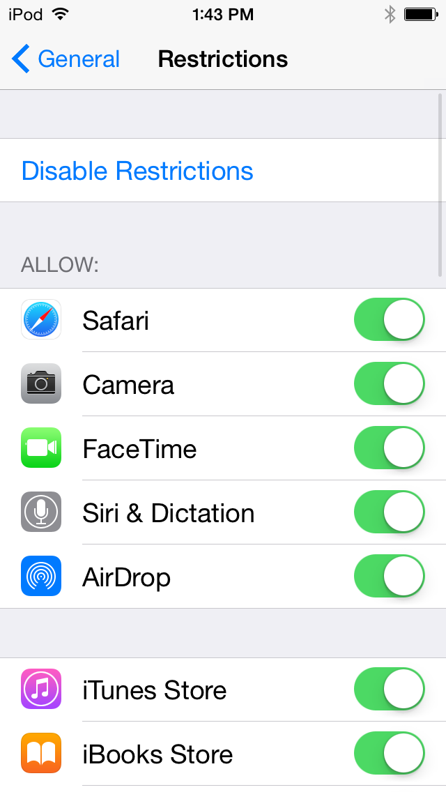 How to remove parental controls on iphone