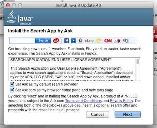 install java on firefox mac