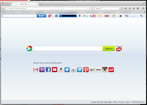 Firefox with Ask Toolbar