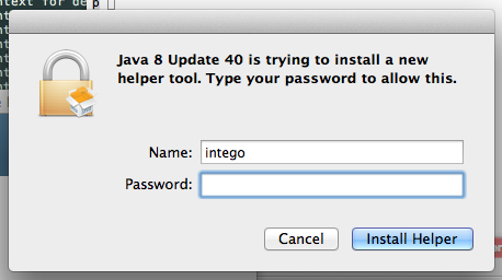 Java installer creates a temporary helper