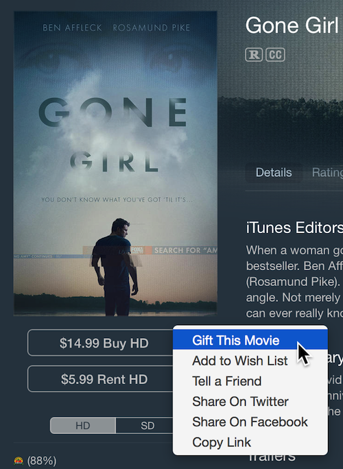 iTunes Store gift