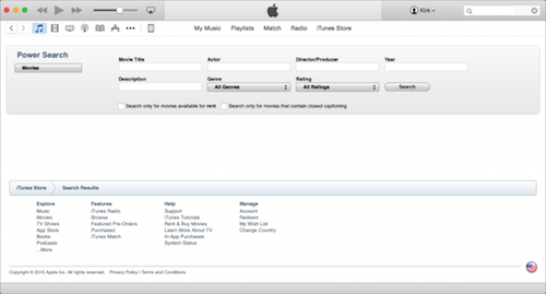 iTunes Store power search