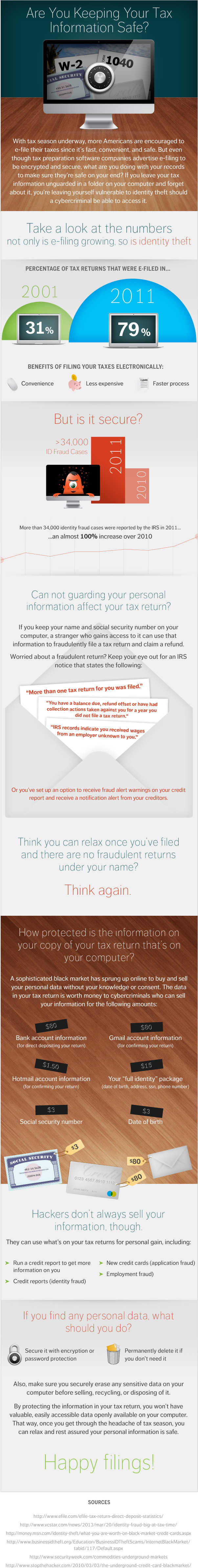How to keep your tax information safe and secure infographic