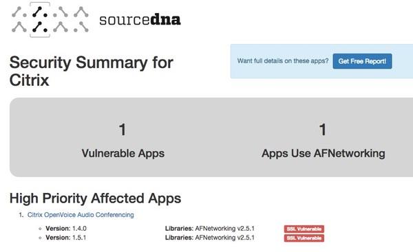 Vulnerable Citrix app