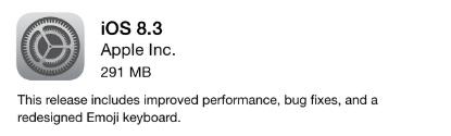 iOS 8.3 update image