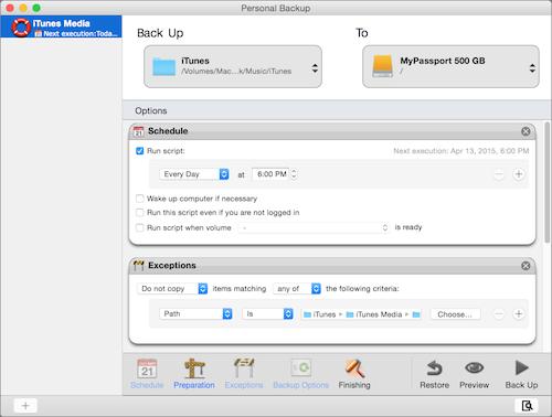 Personal Backup iTunes media image