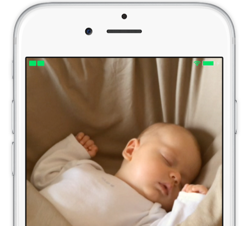 Image of Cloud Baby Monitor on iPhone