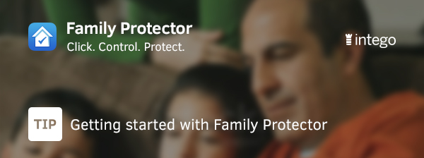 Family screenshot getting started with Family Protector