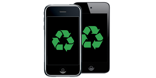 Image of iPhone and iPod to recycle or reuse old cell phone