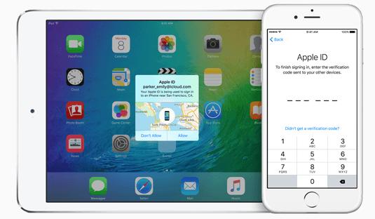 Apple iOS device security screenshot