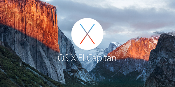 OS X El Capitan logo on desktop background image