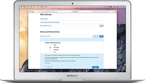 Screenshot of Web Admin showing the settings.