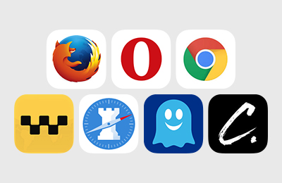 Web browser icons for iOS