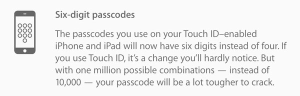 Passcode announcement