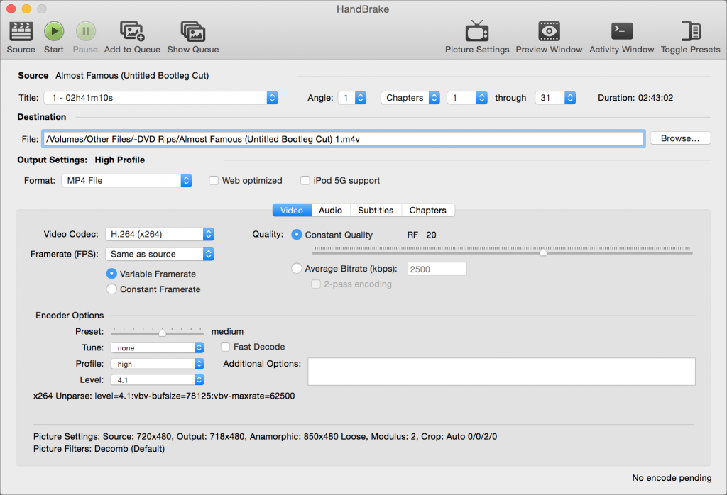 Convert a DVD into a digital video file with HandBrake