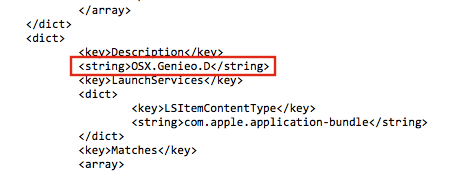 OSX.Genieo.D Xprotect malware