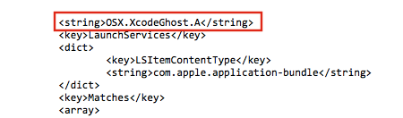 OSX.XcodeGhost.A Xprotect malware definition