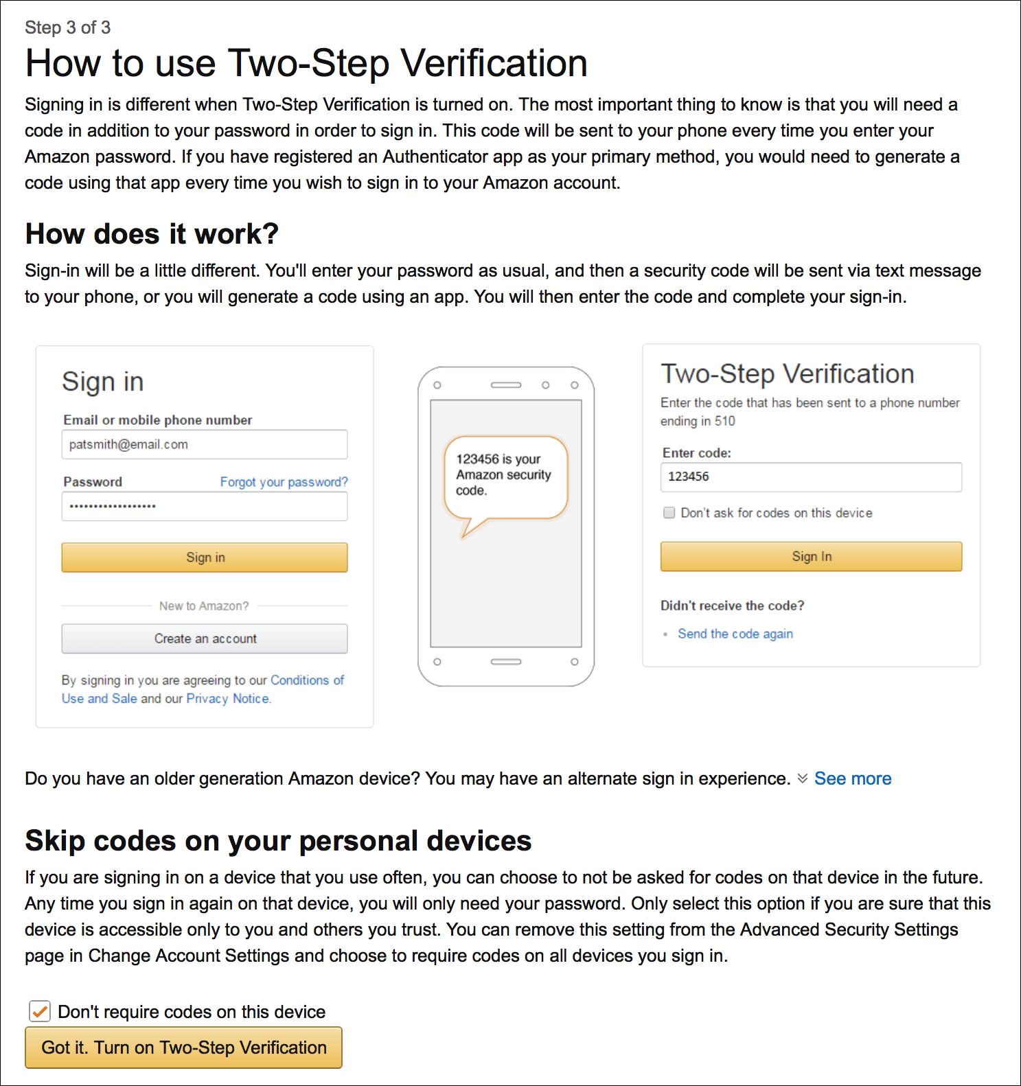 Protect Your Amazon Account with Two-Step Verification   The